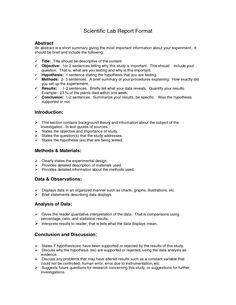 Lab Report Outline | Science Lab Report Template | School Ideas ...