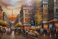 Oil painting of Paris! We have to get one of these when we go!