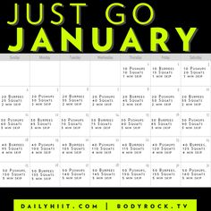 Just Go January Challenge!!! Who's in WITH me!?!  COMMITMENT of bettering yourself a little bit each day yields MASSIVE results!!
