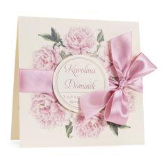 Zaproszenia ślubne zkwiatemPeonii w3 – artMA