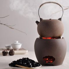 Charcoal stove tea maker alcohol stove Kung Fu tea stove boil teapot tea set Material: Ore rock mud (原矿岩泥) Origin: Dehua(德化), Quanzhou, Fujian Dimensions and Capacity: Quartet furnace: × Drum-type furnace: × Chinese Tea Room, Chinese Tea Cups, Cappuccino Tassen, Tee Set, Tea Culture, Maker, Clay Pots, Sugar Bowl, Kettle