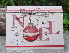 Penny Black Ornamental Noel created by Lorraine Aquilina for the Simon Says stamp Blog. November 2013