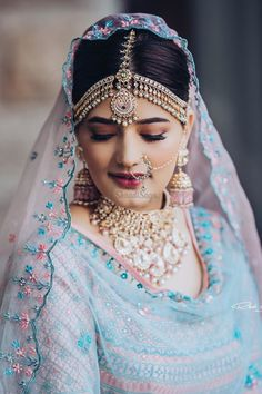 Wedding Day Makeup, Bridal Makeup Looks, Indian Bridal Makeup, Indian Bridal Fashion, Bridal Poses, Bridal Portraits, Wedding Lehenga Designs, Bridal Nose Ring, Indian Bridal Photos