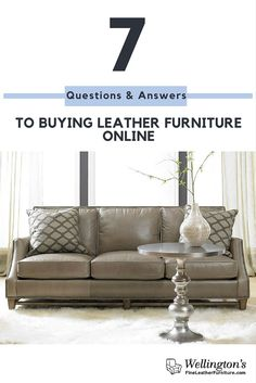 7 Questions And Answers To Buying Leather Furniture Online  Buying a T-Shirt online is MUCH different than purchasing a large expensive item such as a leather couch.  We totally understand and totally get your apprehensio...