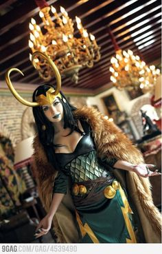 The fun thing about cosplaying Loki is that it isn't technically crossplaying since Loki is both male and female.