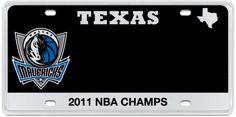 Dallas Mavericks Official Texas License Plates Starting at $55