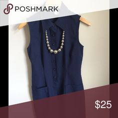 The Monica Lewinsky Dress.😮Vintage GAP Sleeveless Classic GAP shirt dress in 100% polyester. Dry clean. Hits mid thigh. Button front. Excellent condition. This may be a replica Monica L. Blue dress! It is that vintage! GAP Dresses