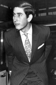 Yes, A Motif Tie Can Look Good. Prince Charles, 1970.