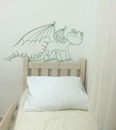 Dragon Vinyl Wall Decal Kids Room Nursery Play Room Decoration - ID257 by FabDecals on Etsy https://www.etsy.com/listing/163677780/dragon-vinyl-wall-decal-kids-room