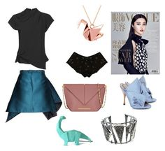 """""""Origami"""" by loreninha1 ❤ liked on Polyvore featuring Disaster Designs, Alexis Bittar, Origami Jewellery, Gyunel, Roland Mouret, N°21, Ayten Gasson and Topshop"""