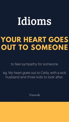 Your heart goes for someone from Idiom – # somebody – - Bildung Advanced English Vocabulary, Learn English Grammar, English Writing Skills, English Vocabulary Words, Learn English Words, English Phrases, English Language Learning, English Lessons, Grammar And Vocabulary