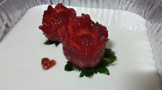 Panna Cotta with Strawberry Rose