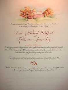 Custom Quaker Marriage Certificate Sign In by DamnGoodCalligraphy, $225.00