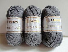 Lamb's Wool gray yarnspecialgreynew by yarnsupplies on Etsy, $18.00