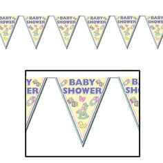 Baby Shower Cuddle-Time Pennant Banner (12ct)