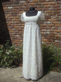 Emma Custom Regency Lace Dress by EleanorsBox on Etsy