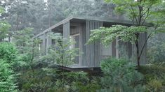 Off-grid forest architecture by gimme-shelter. Architecture Company, Garden Architecture, Amazing Architecture, Modern Architecture, Modular Homes, Prefab Homes, Cabins In The Woods, House In The Woods, Scandinavian Architecture