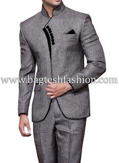 Elegant Party Wear Mandarin Suit