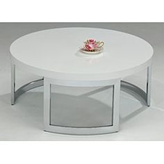 @Overstock - Enhance your home decor with this round coffee table  Furniture features a sleek white finish on table top  Table is sure to accent any room in your homehttp://www.overstock.com/Home-Garden/White-Round-Coffee-Table/3308767/product.html?CID=214117 $179.99