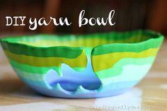 20 Creative DIY Ideas to Make a Unique Bowl --> DIY Yarn Bowl with Polymer Clay #craft #bowl