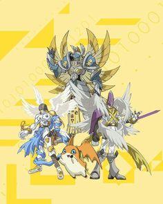 Patamon Angemon HolyAngemon (MagnaAngemon) Seraphimon For Tk (Takeru) Digimon Adventure Tri, Pokemon Vs Digimon, Pokemon Cards, Digimon Wallpaper, Digimon Tamers, Digimon Frontier, Digimon Digital Monsters, Sonic Fan Characters, Otaku