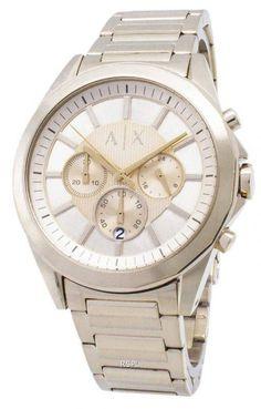 Armani Exchange Chronograph Quartz Mens Watch - Ideas of Armani Watch Stainless Steel Bracelet, Stainless Steel Case, Armani Watches For Men, Online Watch Store, Modern Man, Watch Sale, Seiko, Rolex Watches, Bracelets