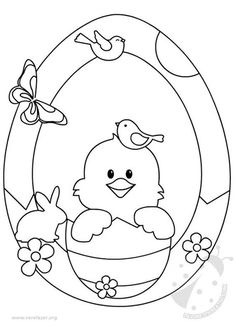 Moldes de ovos de Páscoa - Ver e Fazer Easter Coloring Sheets, Easter Colouring, Colouring Pages, Coloring Books, Easter Projects, Easter Crafts For Kids, Easter Art, Easter Bunny, Easter Colors