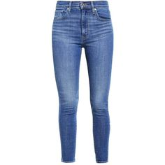 Levi's MILE HIGH SUPER SKINNY ❤ liked on Polyvore featuring jeans, pants, bottoms, denim, blue denim jeans, skinny leg jeans, levi jeans, skinny fit jeans and blue skinny jeans