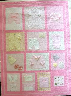 Image Detail for - Memory Quilt using newborn baby clothes