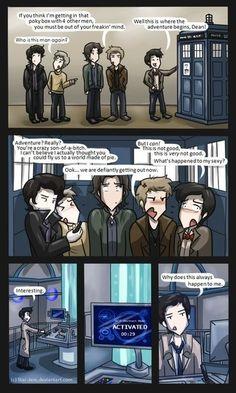 Supernatural, Sherlock, Doctor Who Fandom Crossover, Supernatural Fandom, Castiel, Fandoms Unite, Sherlock Holmes, Sherlock Fandom, Jim Moriarty, Sherlock Quotes, Sherlock John