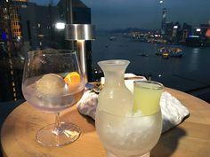 Ocean themed cocktails on the roof at Seafood Room. #HongKong #DiscoverHongKong @HongKongTourism #happyhour