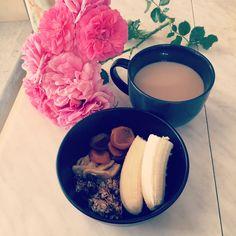 Сухофрукты, домашнии мюсли и банан 🍌