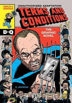 Steve Jobs as superhero … the Terms and Conditions cover.