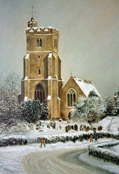 All Saints Church, Biddenden, Kent UK in winter.