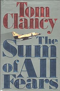 "Tom Clancy - The Sum of All Fears.  All due respect to Ben Affleck of ""Argo,"" but this book is far better than the movie which starred Ben, Morgan Freeman, Liev Schreiber, et al."