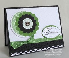 Two Embossed Panels with Lacy & Lovely Stamp Set by Stampin' Up!