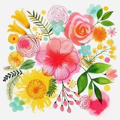 Margaret Berg Art: Pastel+Bouquet