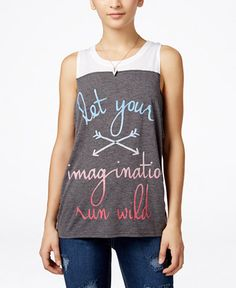 Mighty Fine Juniors' Graphic Tank Top