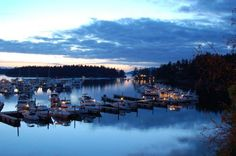 A peaceful night at Roche Harbor, San Juan Islands, Wa. Photo Credit- Melissa Fisher  www.WashingtonStateDestinations.com