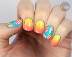 Pineapple nail art!