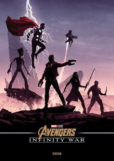 Póster exclusivo de #VengadoresInfinityWar #AvengersInfinityWar, obra del dibujante #MattFerguson, para la cadena de cines #Odeon. #Excélsior