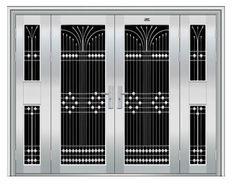 Gate Wall Design, Grill Gate Design, House Main Gates Design, Main Entrance Door Design, Steel Gate Design, Front Gate Design, Double Door Design, Window Grill Design Modern, Window Design