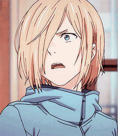Yurio + Different Hairstyles 3 Lolis Anime, Anime Guys, Anime Art, Yuri On Ice, Yuri Plisetsky Hot, Animated Icons, Stray Dogs Anime, ユーリ!!! On Ice, A Silent Voice