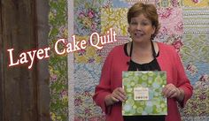 """Layer Cake Quilt - Quilting Made Simple.  6 across, 7 down, inner border 2 1/2"""" strips (3/4 yard) outer border 8"""" scalloped strip (2 yards)"""
