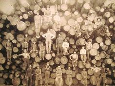 Loggers posing together around 1900