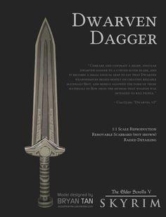[the elder scrolls universe] dwarven dagger