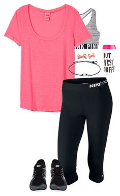 """""""lazy day outfit :)))"""" by sassy-and-southern ❤ liked on Polyvore featuring NIKE and Kate Spade"""