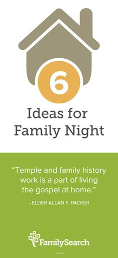 6 quick and easy family home evening lessons to introduce family history work to your children in a fun and engaging way.