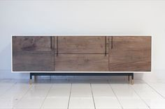 BDDW, LAKE CREDENZA: hand-made; This is the exact design aesthetic that I love. Rustic + modern