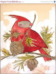Whimsical cardinal.